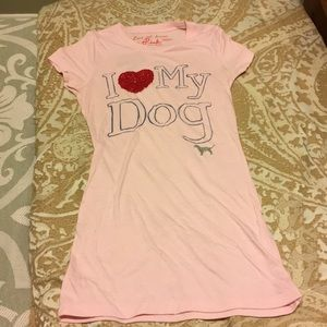 Victoria's Secret Pink love my dog tee xsmall